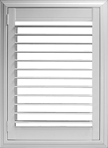 2½ inch louver with Clearview® hidden rear tilt