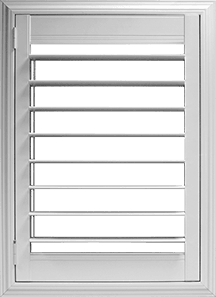 3½ inch louver with Clearview® hidden rear tilt