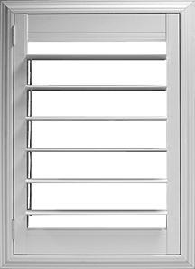 4½ inch louver with Clearview® hidden rear tilt