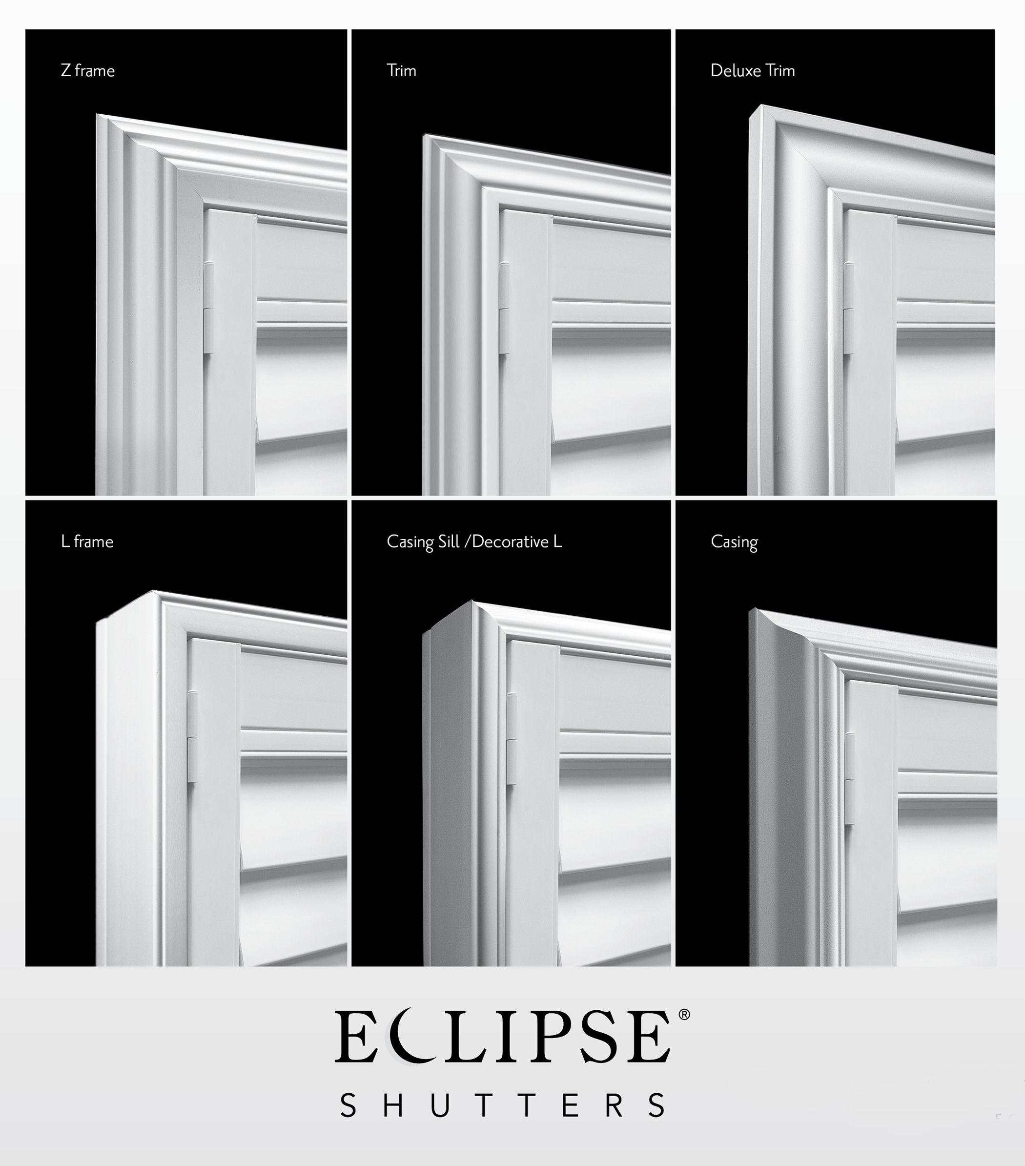 Perfect Frame for your Shutters - Eclipse Shutters DE74
