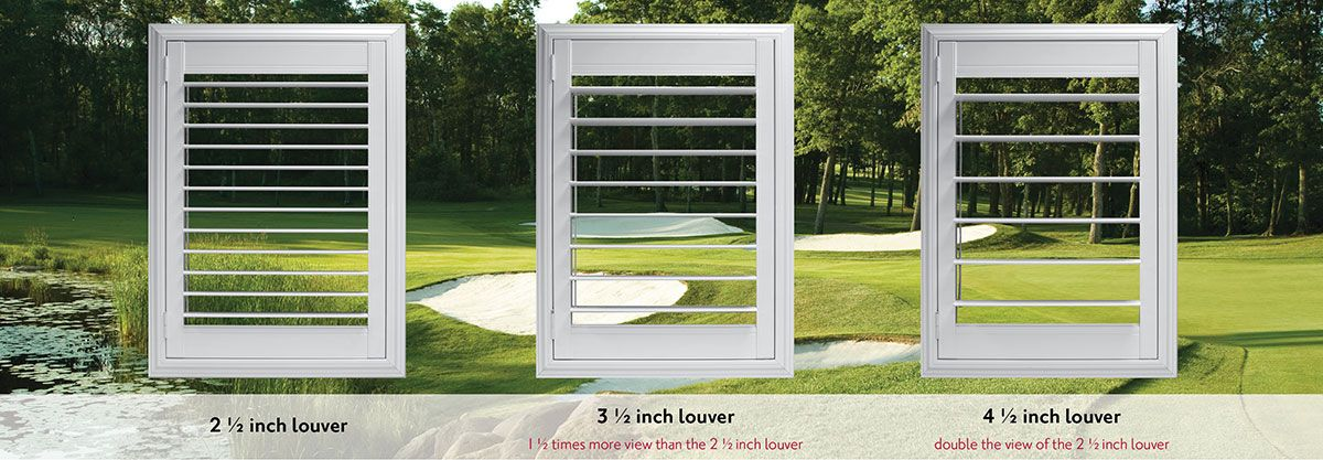 Plantation Shutter Louver Sizes